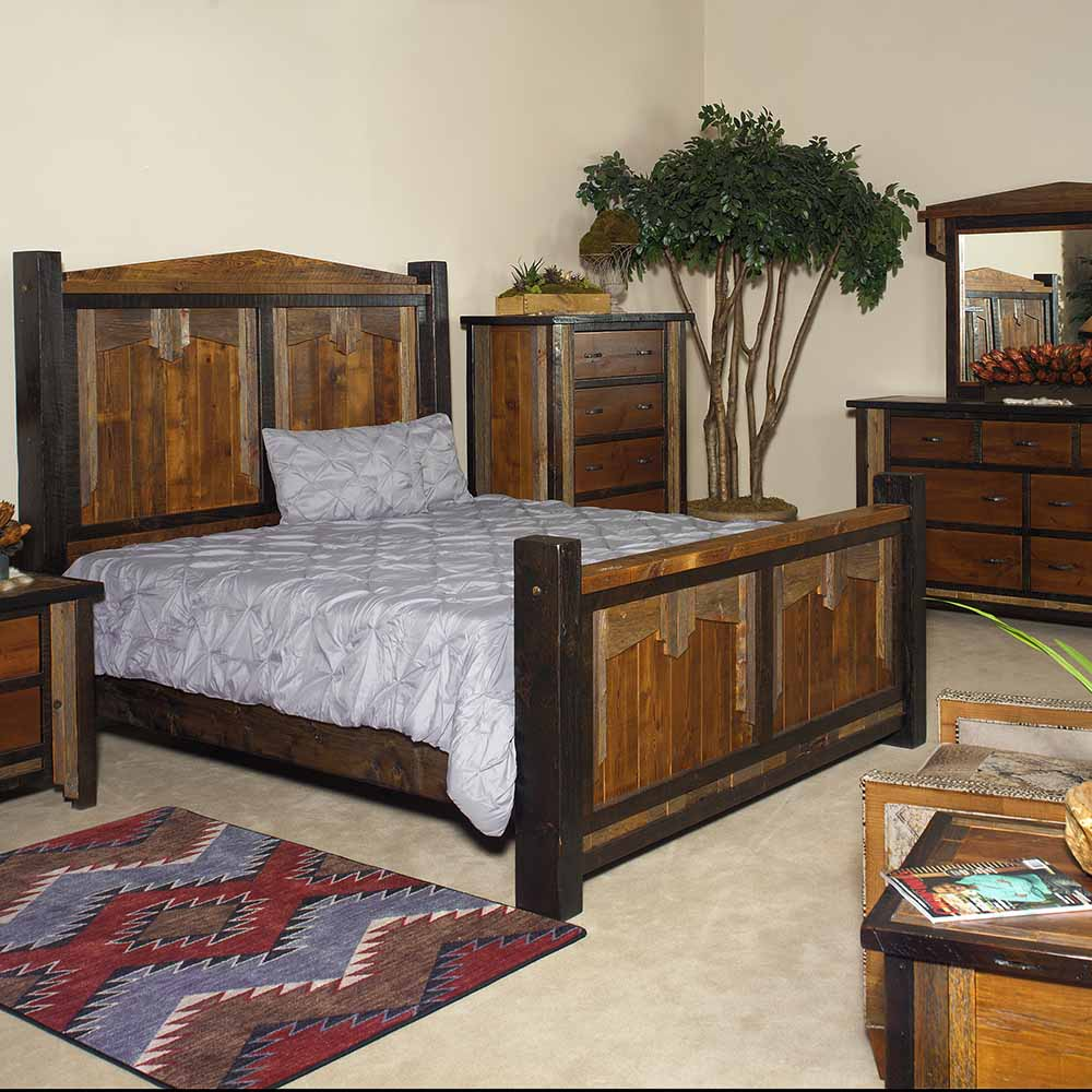 Cody Reclaimed Barn Wood Bed In Mid Century Western Design