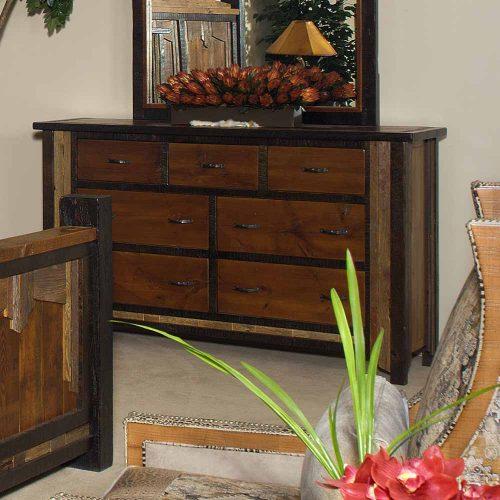 Cody Reclaimed Barn Wood 7 Drawer Dresser 29425
