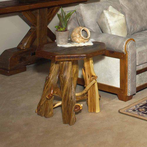 Silverton Reclaimed Barn Wood Octagon End Table 87201