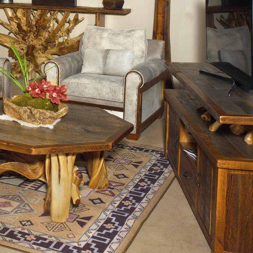 Silverton Reclaimed Barn Wood 2 Door 1 Drawer T.V. Stand 87225