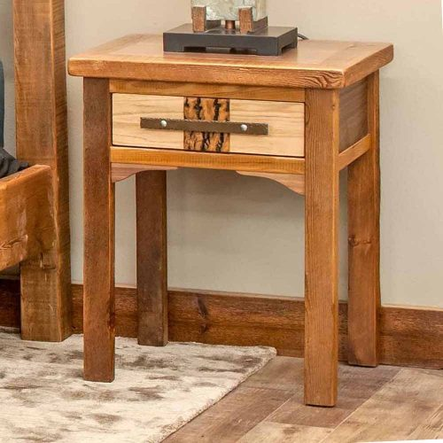 Mendocino Reclaimed Barn Wood 1 Drawer Nightstand-TM Designs 8157415