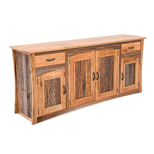 Hampton Heath Reclaimed Barn Wood 4 Door 2 Drawer Server HH8031