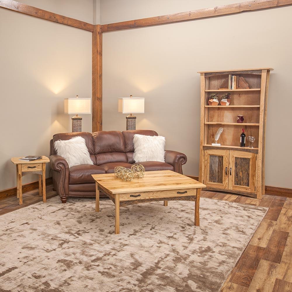 Hampton Heath Reclaimed Barn Wood 1 Drawer Coffee Table HH8214