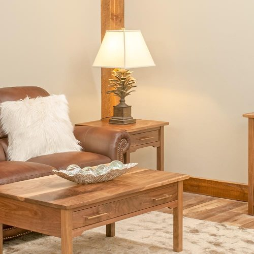 Kennewick Walnut 1 Drawer End Table 5207206