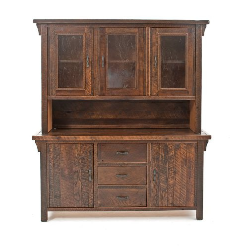 Oak Haven Reclaimed Barn Wood Buffet-Hutch 17722