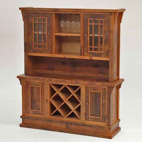 Stony Brooke Reclaimed Barn Wood Hutch-Wine/Glass Storage 7734
