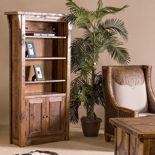 Stony Brooke Reclaimed Barn Wood 2 Door Book Shelf 7758