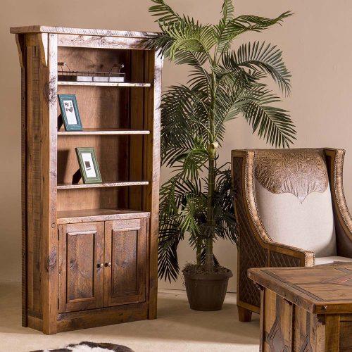 Stony Brooke Reclaimed Barn Wood 2 Door Book Shelf 7758