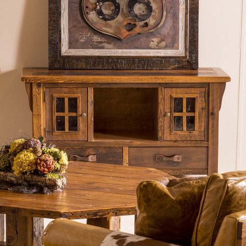 Stony Brooke Reclaimed Barn Wood 2 Door 2 Drawer TV Stand 7890