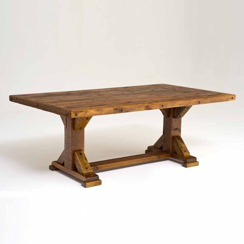 Windy Stables Reclaimed Barn Wood Dining Table 9614