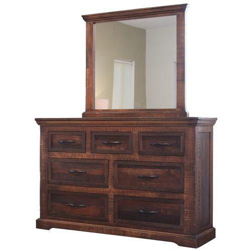 Madeira Urban Rustic Bedroom Mirror IFD1200MIRR