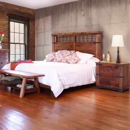 Parota Urban Rustic Bedroom Collection IFD2020-BED-Q