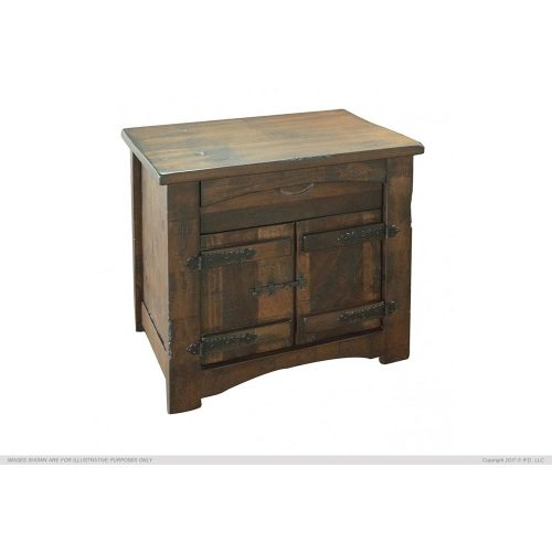 Mezcal Urban Rustic 1 Drawer 2 Door Nightstand