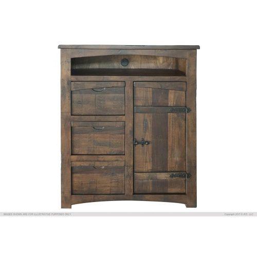 Mezcal Urban Rustic 3 Drawer 1 Door TV Chest IFD567CTV
