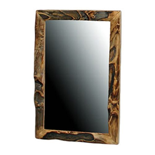 Aspen Half Log Gnarly Mirror HOF-ALD-MIR-HL-30x40-Gnarly