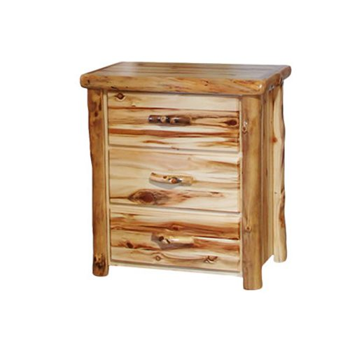 Aspen Log 3 Drawer Flat Panel Chest HOF-ALD-3DC-FP-40