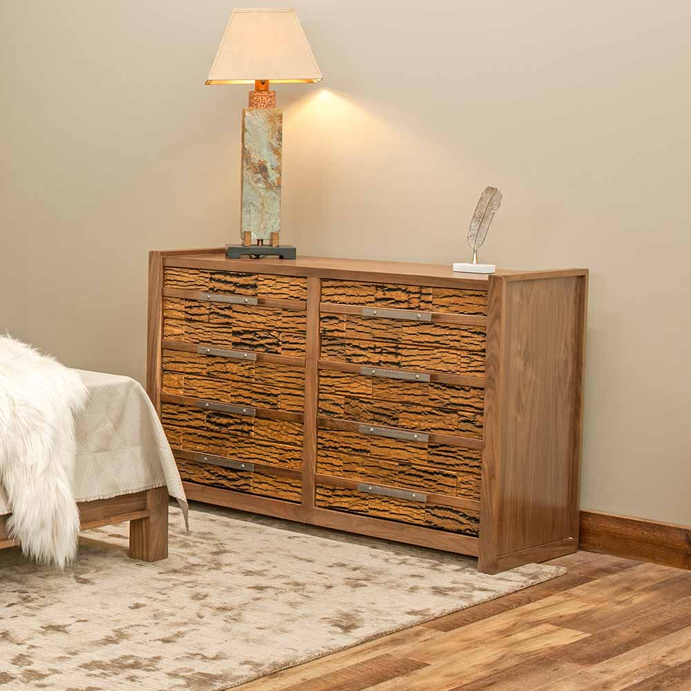 Riley 8 Drawer Reclaimed Barn Wood Dresser-Bark Tile-TM Designs 6317425-BT