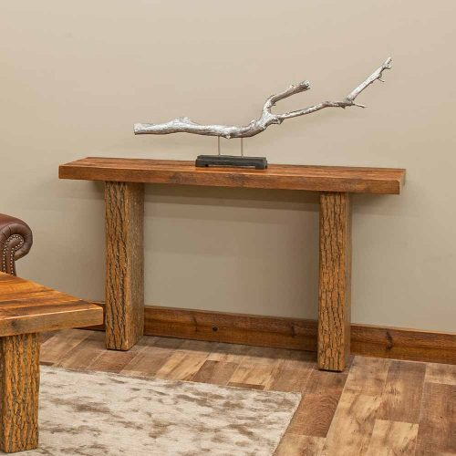 Birchmere Sofa Table-Walnut Waterfall Top-TM Designs 8977270-WWT