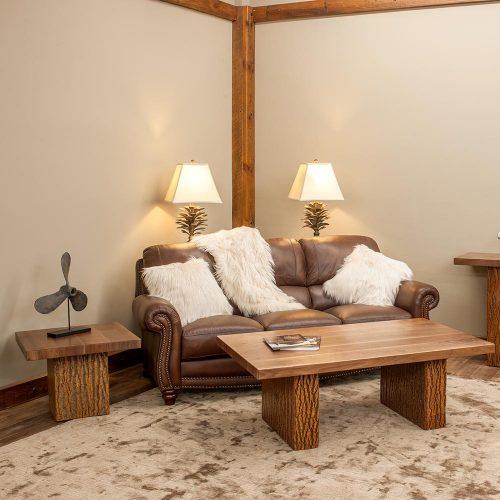 Birchmere Coffee Table-Walnut Waterfall Top-TM Designs 8977212-WWT