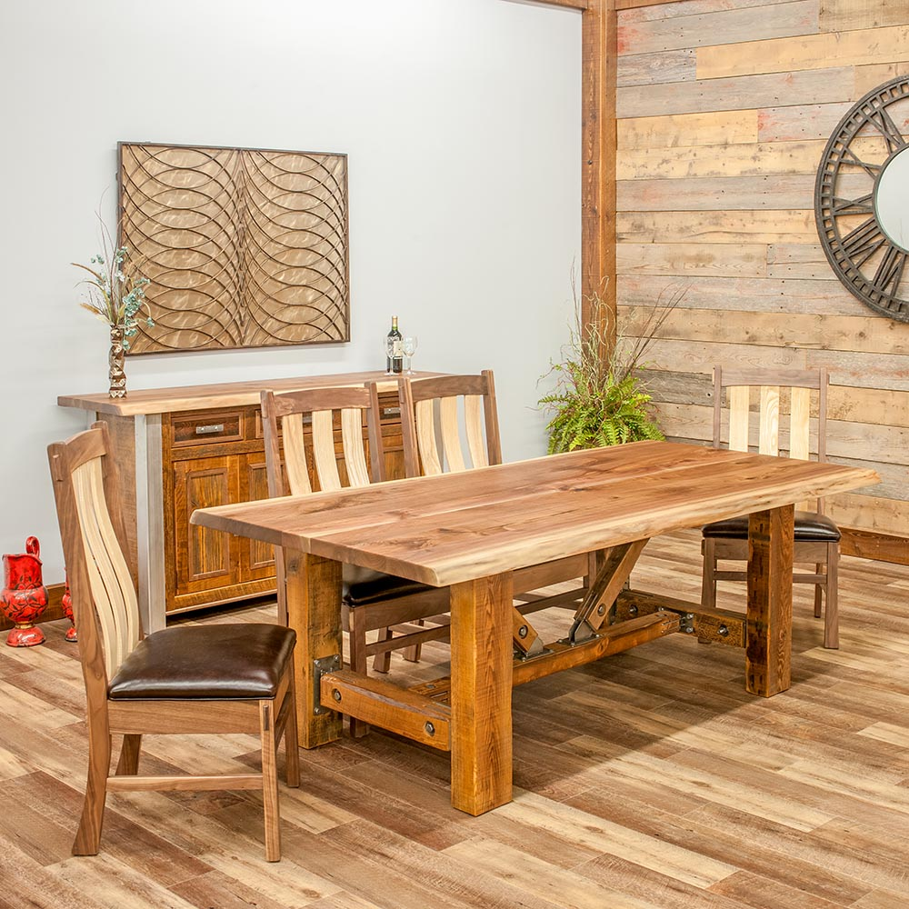 Barnwood Dining Room Tables: Harvest Reclaimed Barn Wood Dining Table-TM Designs