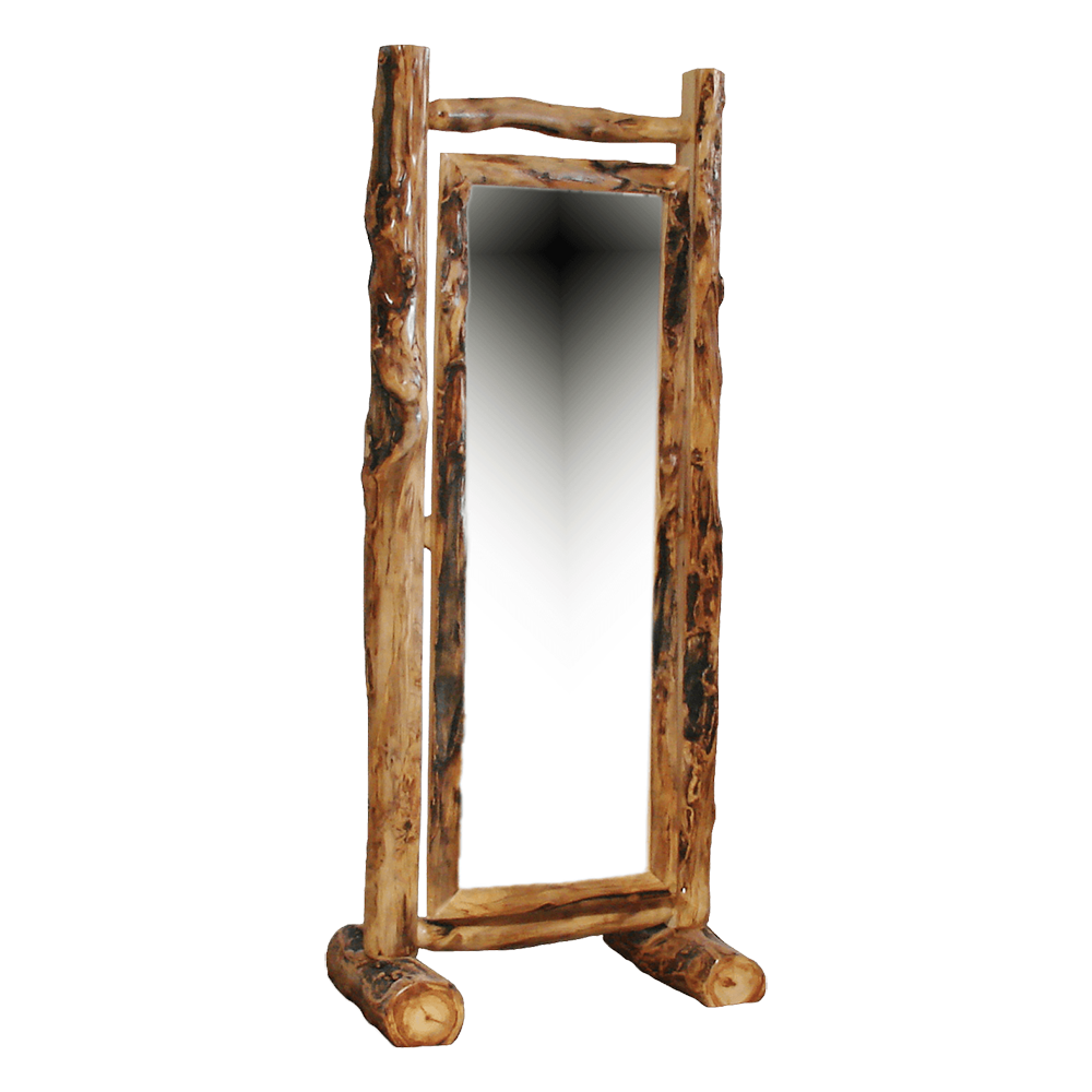 Aspen Log Cheval Mirror HOF-ALD-MIR-HL-CHEVAL
