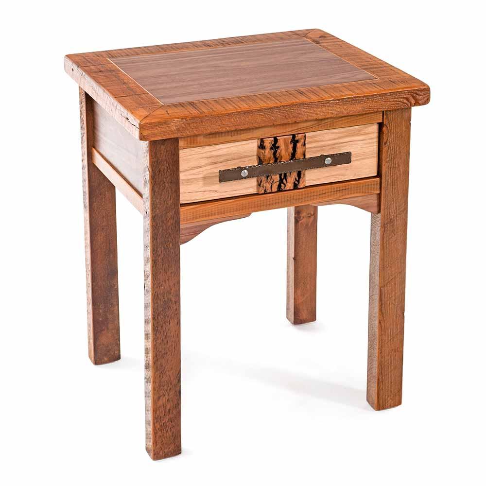 Night Stand Designs : Mendocino reclaimed barn wood drawer nightstand tm designs
