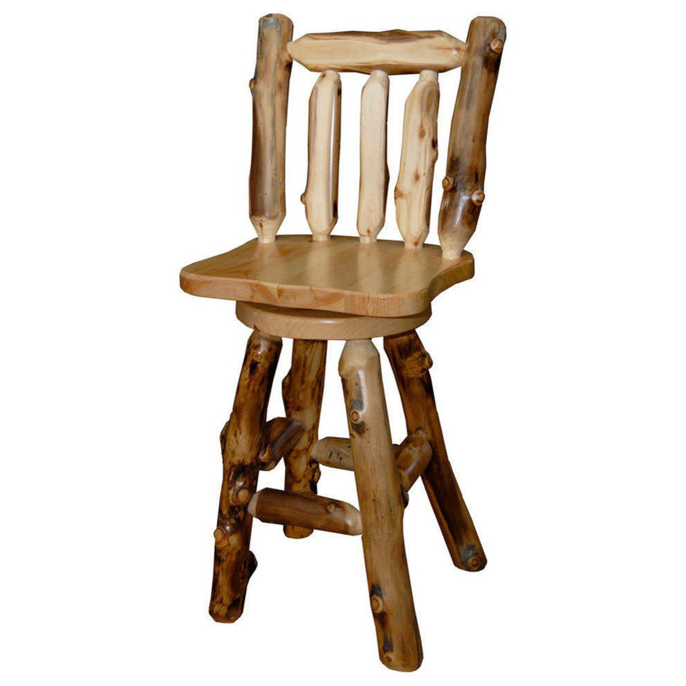 Aspen Log Swivel Bar Stool HOF-ALL-BS-24