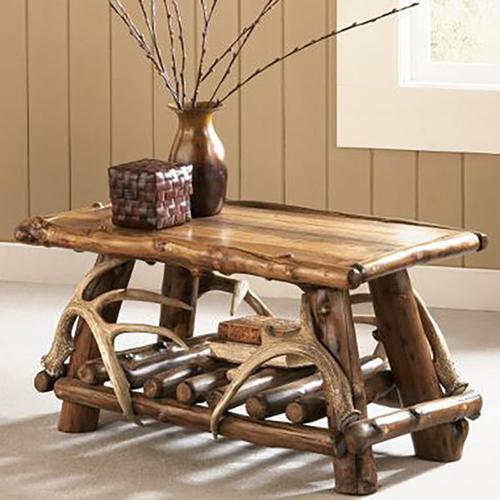 Aspen Log Coffee Tables