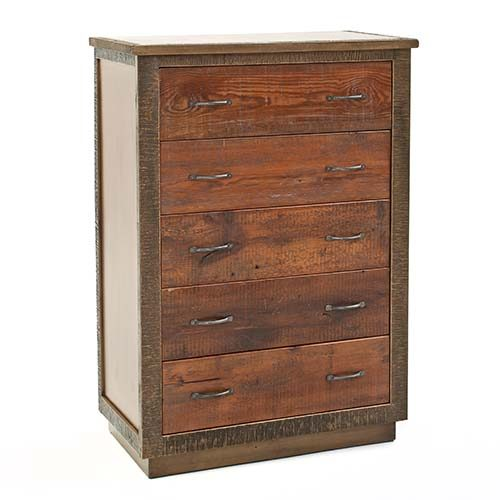 Berkley Reclaimed Barn Wood 5 Drawer Chest 48426