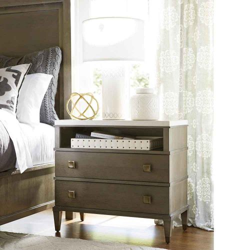 Playlist Dark 2 Drawer Nightstand 507351