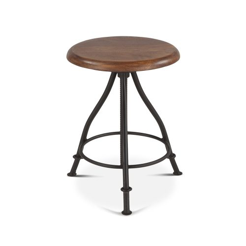 Walnut Top Industrial Loft Stool