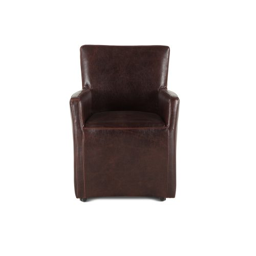 Peabody Leather Dining Arm Chair