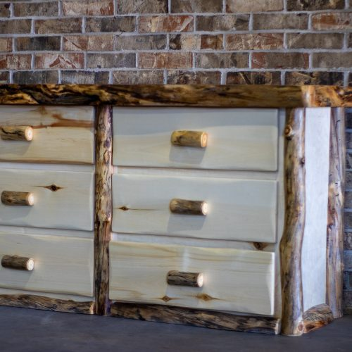 Aspen Log 6 Drawer Dresser
