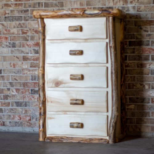 Aspen Log 5 Drawer Chest