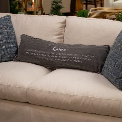 Home Definition Washed Canvas Fray Pillow