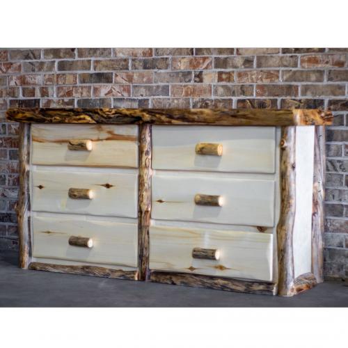 Aspen Log 6 Drawer Dresser