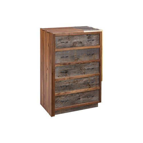 5 drawer barnwood chest