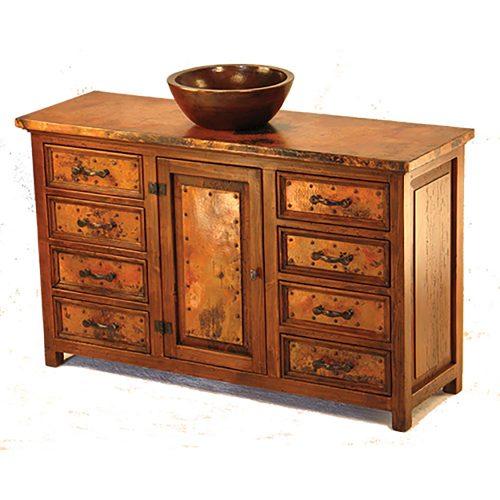 Francisco 1 Door 8 Drawer Copper Buffet