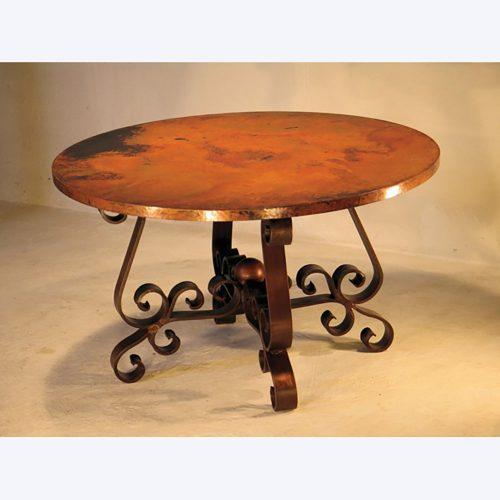 Patricia Copper Round Coffee Table