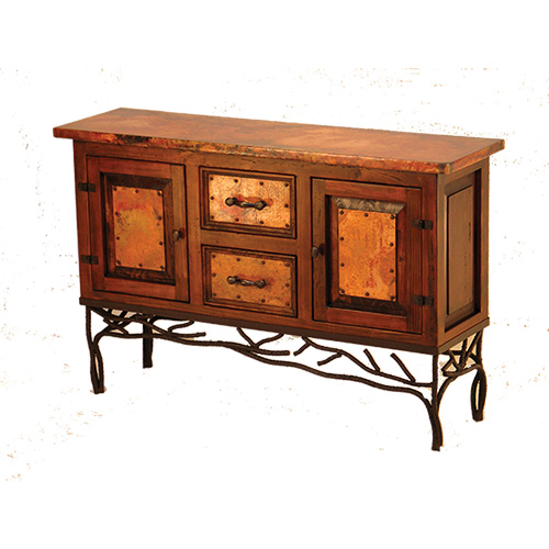 Twig Base Copper Console Table