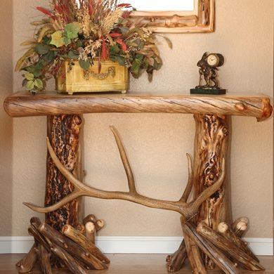 Aspen Log Sofa Tables
