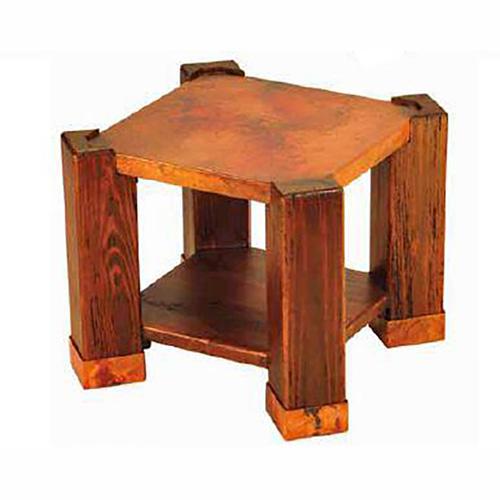 Copper Phoenix End Table