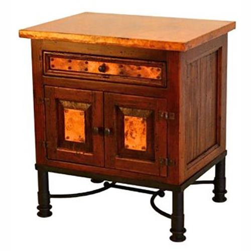 copper nightstand