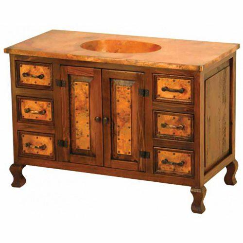 Copper Cabinet & Bottom Shelf Vanity