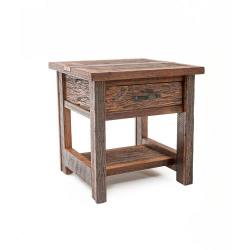 Copperhead 1 Drawer Side Table with Copper
