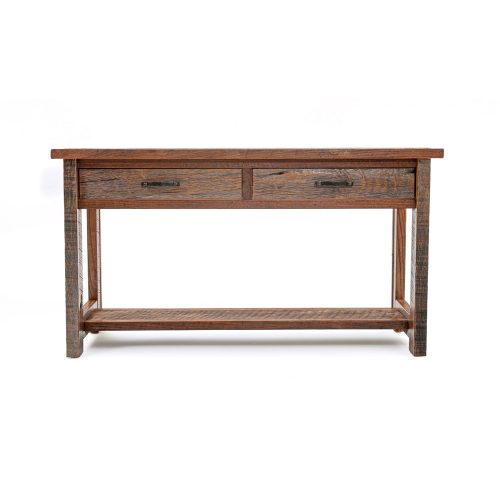 Copperhead 2 Drawer Sofa Table with Copper
